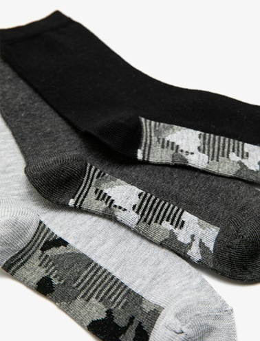 Koton Kids 3'lü Çorap Gri
